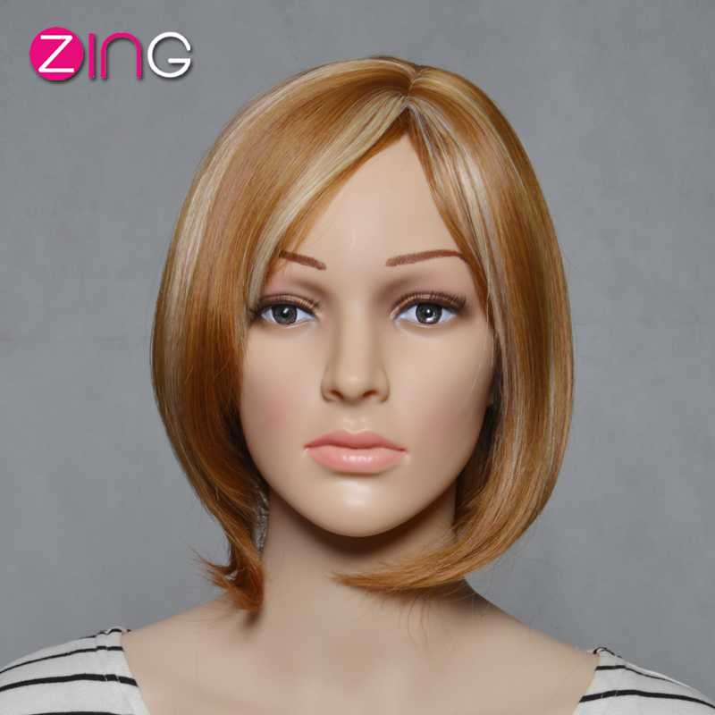 Cute Short Haircuts Synthetic Wigs For Women Flaxen And Blonde Color