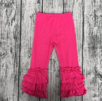Wholesale baby ruffle shorts baby leggings jeans pants kids to china infant kids sew sassy ruffle capris icing ruffle pants фото