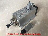 نك راوتر محور دوران 1.5KW المغزل موتور 220 فولت/110 فولت ER11 تبريد الهواء آلة أداة المغزل مربع آلة جزء لطحن