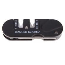 Outdoor Survival Multifunction Pocket EDC Folding Tool Ceramic Carbide Diamond Tapered Knif Sharpening Tool US#V