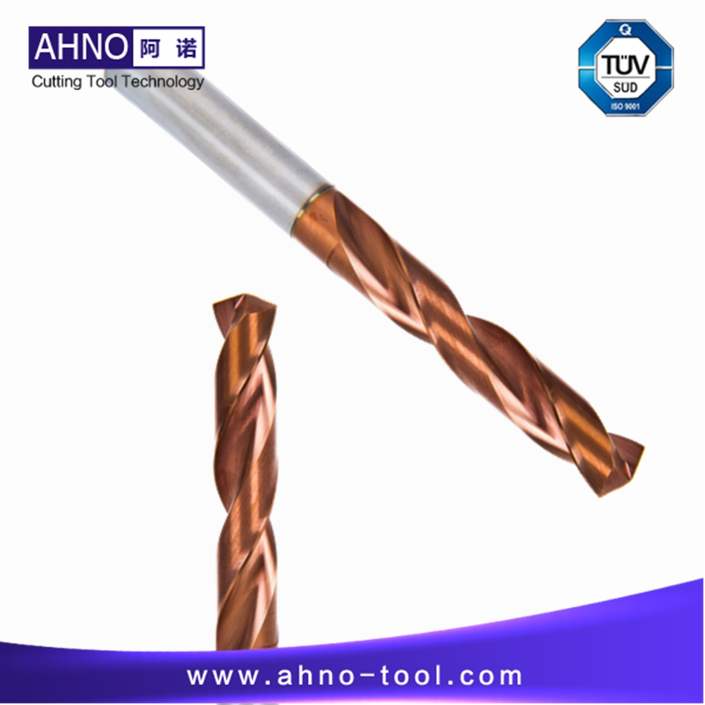 AHNO Tungsten Solide Carbide Drill Bit 3xD for CNC Machine, AlCr-based copper Balzers Coating,Highest quality Carbide in China hrc50 ahno 4 flutes or 2 flutes tungsten carbide cnc end mills milling cutters tools updated alcr based copper coating 2018