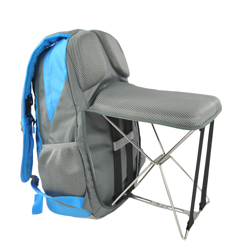 PLAY-KING Fishing Chair Folding Outdoor Leisure Sports Bag Wearable Bench Stool Backpack Hiking Hiking Multi-function Backpack