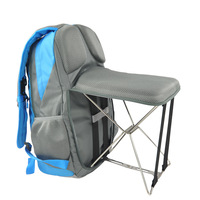 PLAY KING Fishing chair folding outdoor leisure sports bag Wearable bench stool backpack hiking hiking multi function backpack