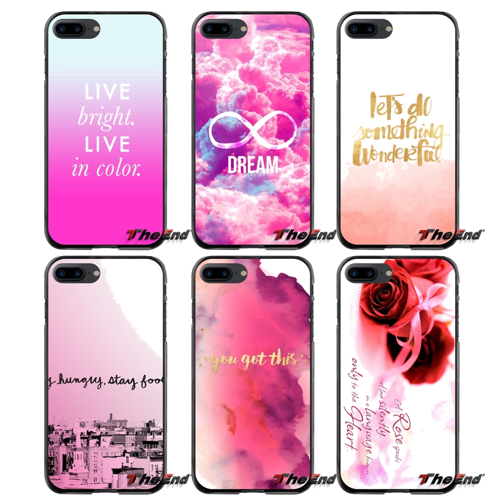 For Apple iPhone 4 4S 5 5S 5C SE 6 6S 7 8 Plus X iPod Touch 4 5 6 Pink Words Accessories Phone Cases Covers