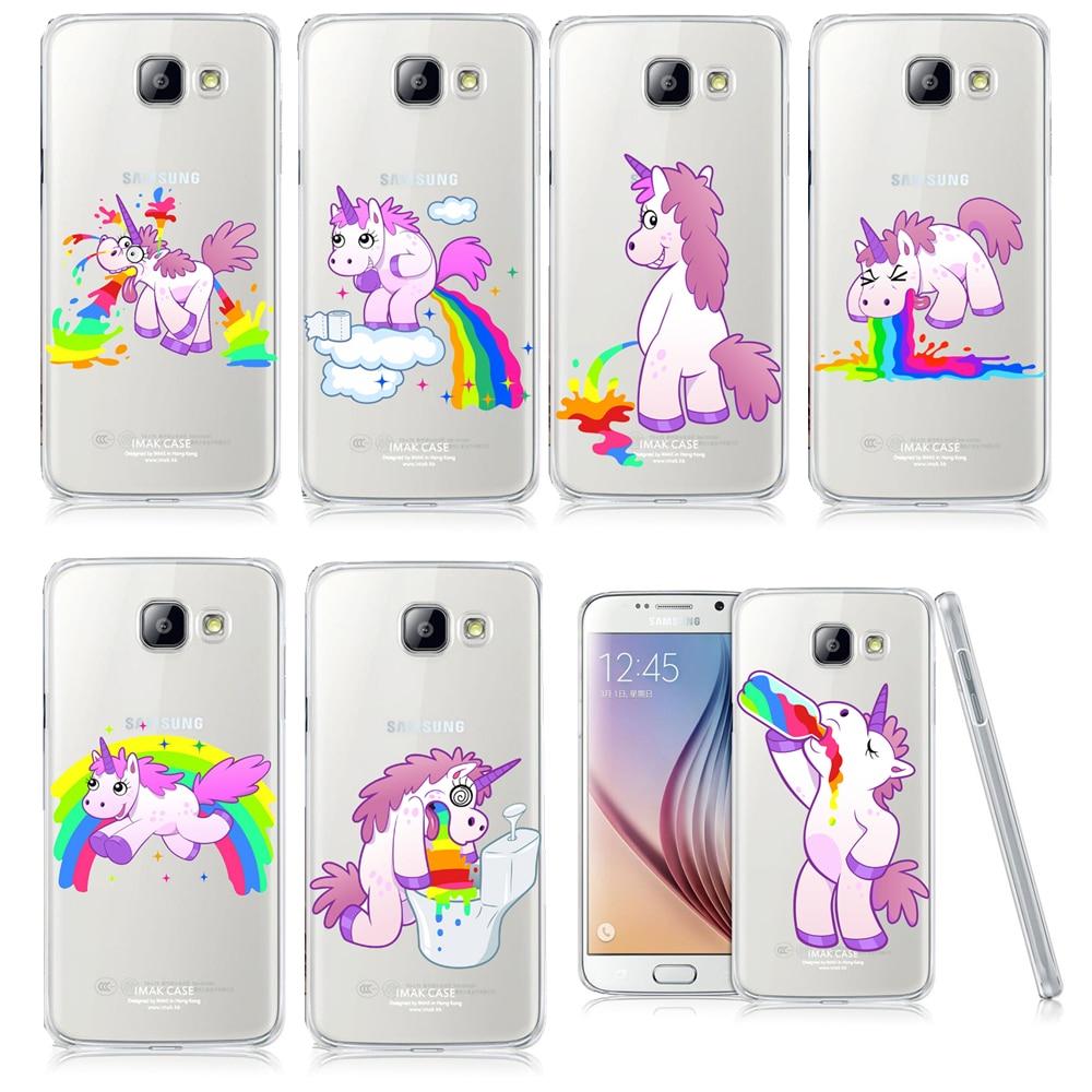 unicorn angel horse pattern phone case for samsung galaxy a3 a5 a7 j1 j5 j7 2016 hippo rainbow. Black Bedroom Furniture Sets. Home Design Ideas