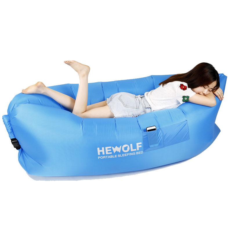 Hewolf 235x70cm Air Bags Lazy Sofa Fast Inflatable Sofa Bed Lazy Beach  Lounge Foldable And Washable Part 56