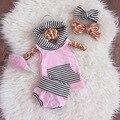 2017 Baby Girl Roupas de Verão Moda Bebê Recém-nascido Meninas Roupas Set Com Capuz de Lazer Roupas de bebê Roupa De Bebes De Menina