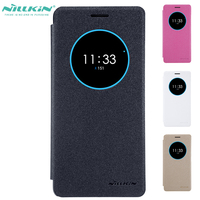 Window View Flip Case For Lenovo ZUK Z2 PRO Nillkin Hollowed-Out Leather + PC Cover