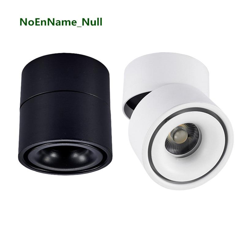 5 Вт/7 Вт/12 Вт Светодиодный светильник поверхностного монтажа AC85-265V Регулируемый 90 градусов точечный свет 360 Вращающийся светодиодный светил...