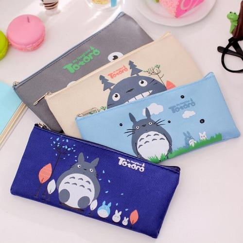 1Pc Kawaii Cat Series Pencil Bags Cute Canvas Pen Bag Office Accessories School Kids Gift Stationery Supplies(tt-2427)