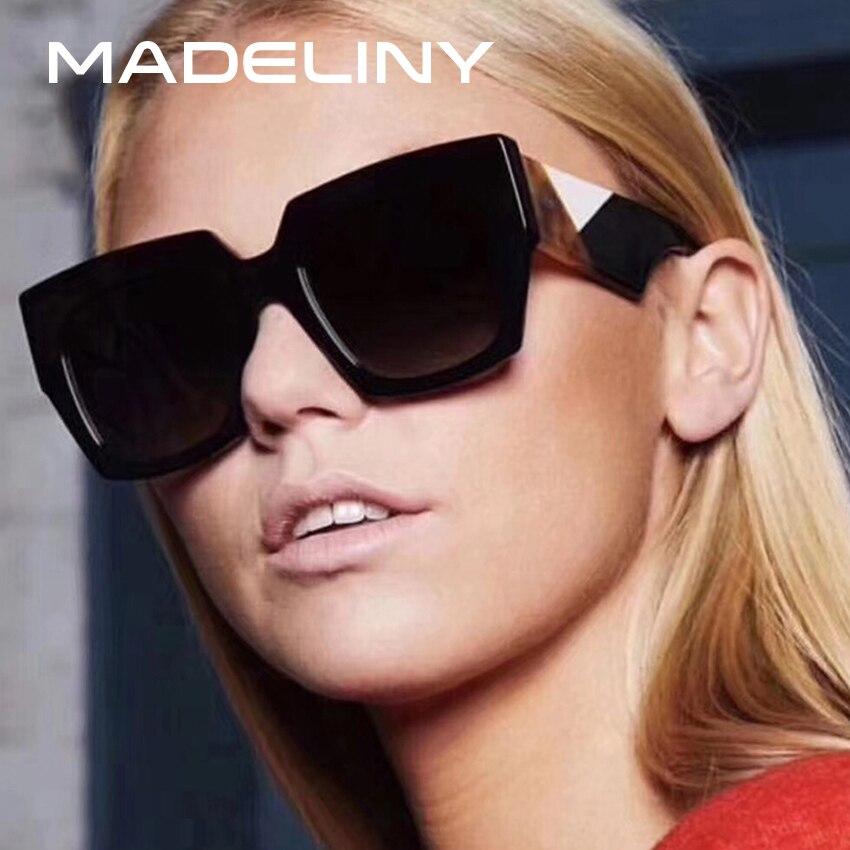 MADELINY New Fashion Women Square Sunglasses Brand Design Cl
