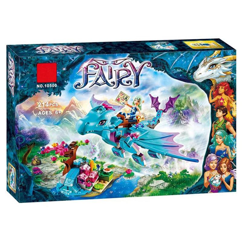 10500 Fairy Friends 214pcs Water Dragon Adventure Building Bricks Blocks Set Gift Girls Toys Compatible Elves 41172