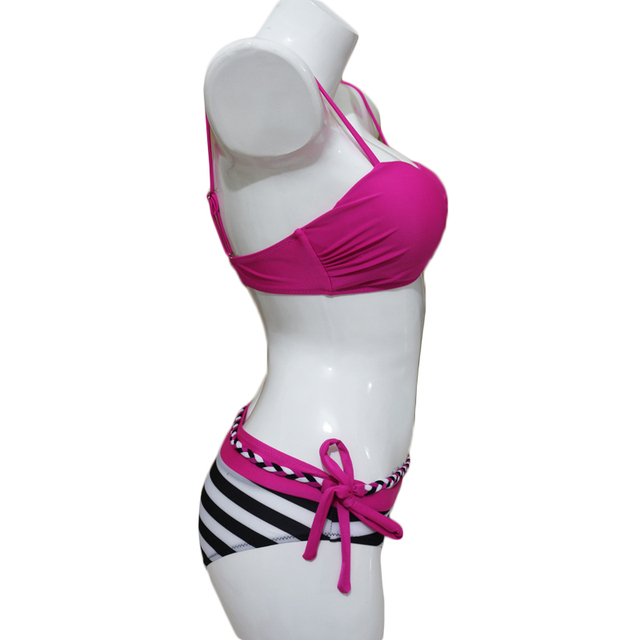 2017 Vintage Sexy Women Push Up Bikini Brazilian Bandeau Swimsuit