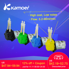 hot deal buy kamoer new kp peristaltic pump 3v/6v/12v/24v dc water pump with silicone tubing free shipping 6-in-pack best price mini pump