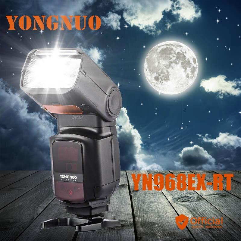 YONGNUO YN968EX-RT Flash Speedlite High-speed Sync TTL Wireless Light for Canon 5DIII 6D 7DII 60D 1100D 1200D 1000D 700D 80D 77D new yongnuo yn968ex rt ttl wireless flash speedlite with led light support yn e3 rt yn600ex rt for canon 600ex rt st e3 rt