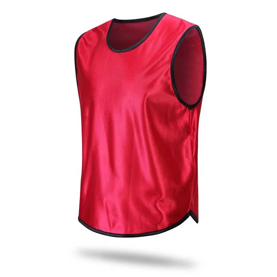 5e4558214 Men Kids Soccer Training Jerseys Sport Kits Against Vest Football Waistcoat  Team Group Tops Shirts Breathable