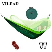 VILEAD автоматический раскладной гамак с комаров стабильный Сверхлегкий портативный для прогулок, охоты и кемпинга кроватка Спящая кровать 290*140 см