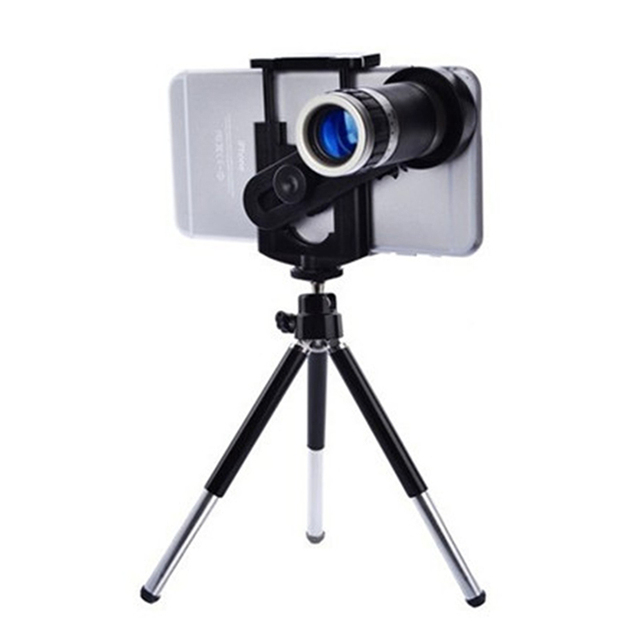 8X Telescope Zoom Mobile Phone Camera Lens Tripod Smartphone Bracket Macro Camera Lenses for iPhone 8X Lens Bluetooth Self-timer