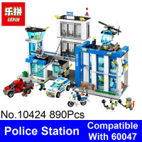 2017 Bela 10424 Lepin City Police Station Model Building Blocks Bricks Compatible 60047 Girls Blocks Friends