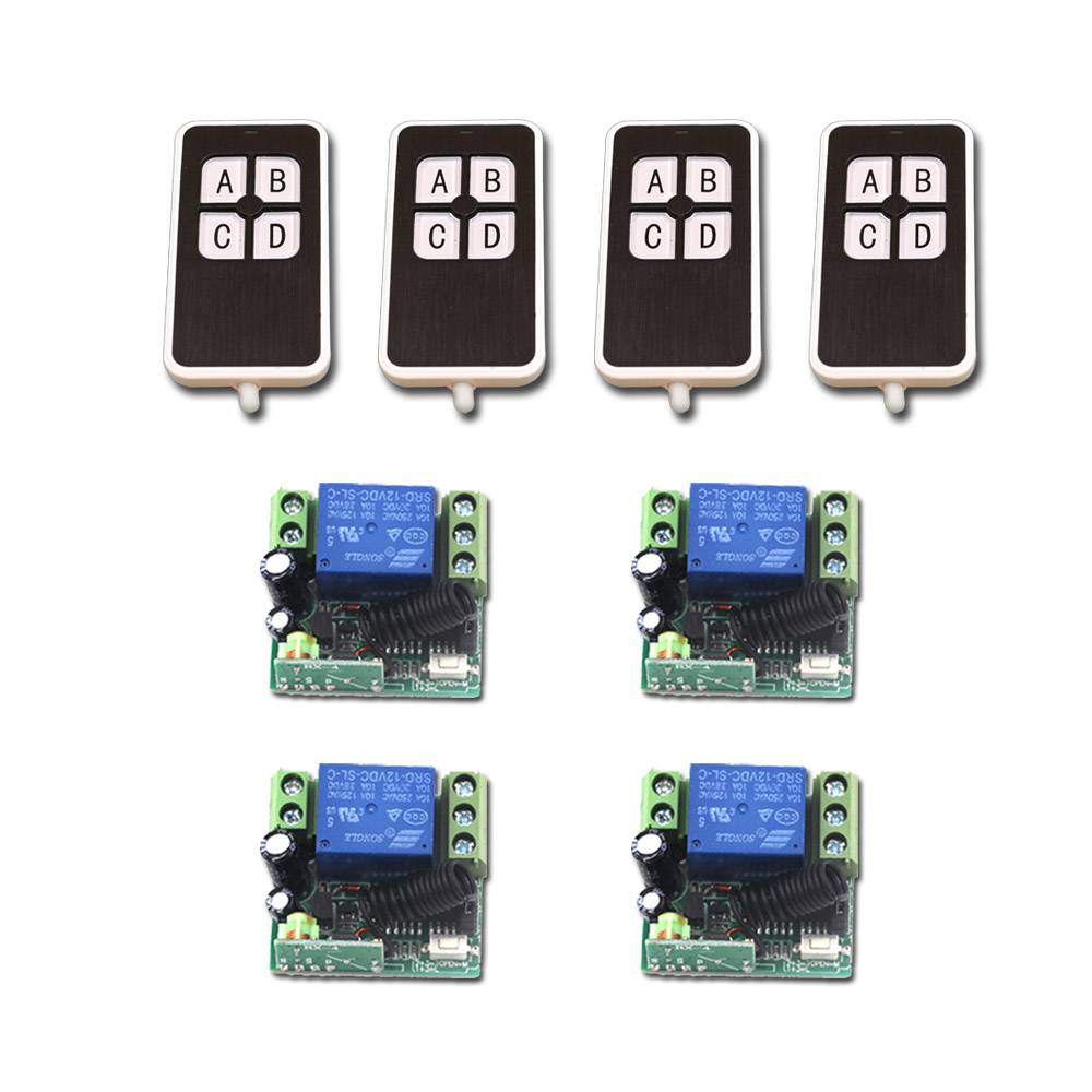 Newest 315/433MHz DC12V Mini 1CH RF Wireless Switch Relay Receiver Remote Controllers Light Switch for Access/Door System ac 220v 1ch rf wireless remote switch wireless light lamp led switch 1 mini receiver 4 transmitters on off 315mhz or 433mhz