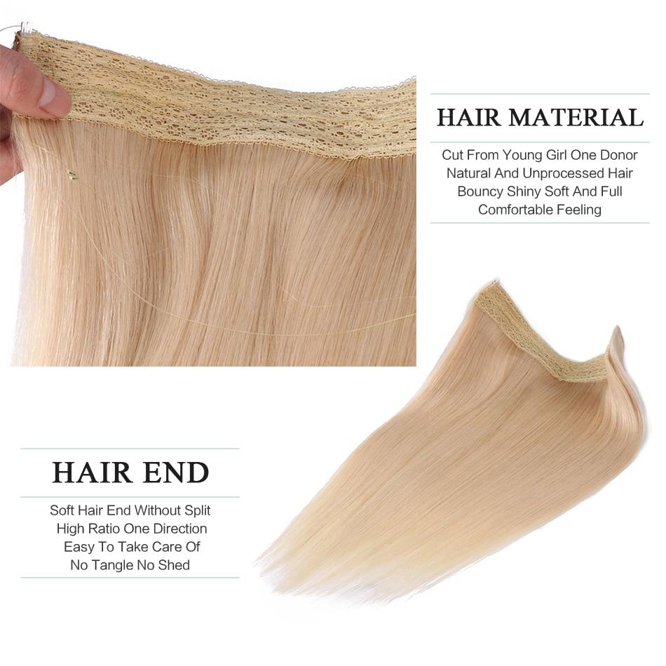 Ali Beauty 18 Inches Brazilian Straight Human Hair Weave Flip On In
