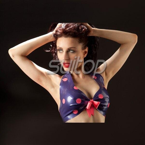 Sexy en caoutchouc latex soutien-gorge latex sous-vêtements en caoutchouc vêtement