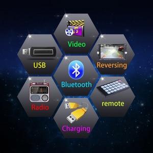 Image 5 - Lecteur de voiture Mp5 Mp4 avec caméra de vue arrière 6.6 pouces HD écran tactile numérique voiture Bluetooth Fm transmetteur Charge USB périphériques