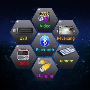 Image 5 - รถ Mp5 Mp4 เครื่องเล่นด้านหลังกล้อง 6.6 นิ้ว HD Digital Touch Screen รถบลูทูธ FM Transmitter ชาร์จ USB อุปกรณ์