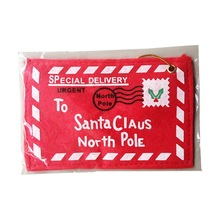 To Santa Claus North Pole Christmas Envelope Pendant Tree Accessories Christmas Small Gift Candy Bags Home Party Xmas Decor