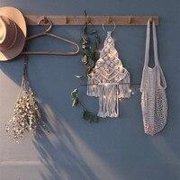 Macrame Christmas Wall Hanging Handmade Woven Christmas Tree Tapestry Cotton Christmas Decoration