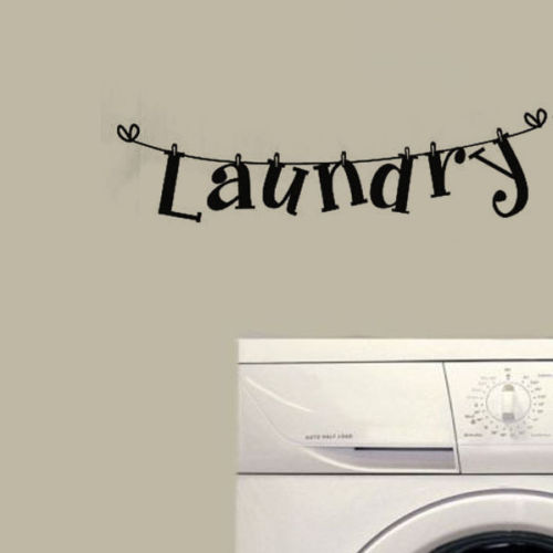 US $1 41 |Laundry Quote Wall Decal Vinyl Lettering DIY Wall Stickers  laundry washing machine Room home Decor Fresh sticker-in Wall Stickers from  Home