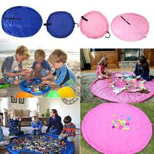 Portable Kids Toy Storage Bag Play Mat Toys Organizer Box Blanket Outdoor Children Bags Drawstring Rope