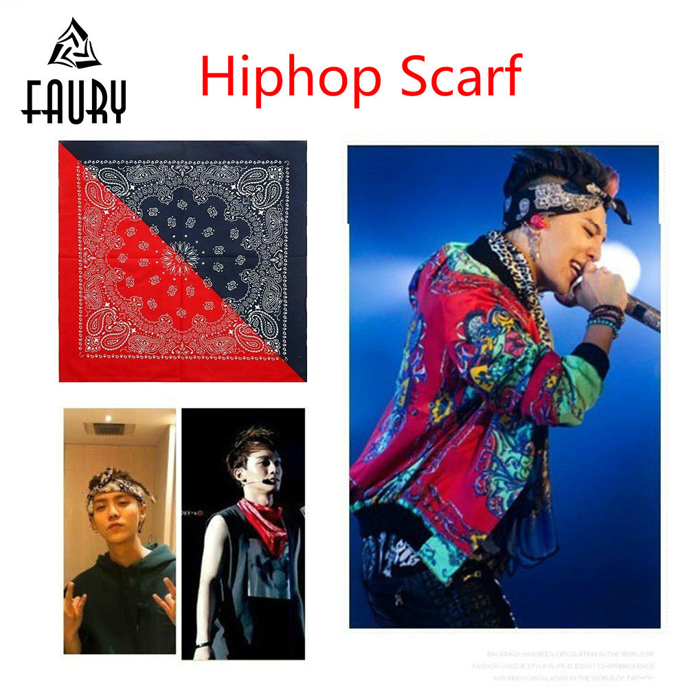 Bandit Flower Motion Color Kerchief Hip-hop Dance Scarf Cycling Half Cover Men Women Scarf Hip Hop Kids Clothes Costume Jazz