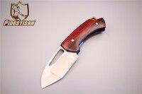 New Folding D2 Blade Edc Pocket Knife Tools Wood Handle Multi Tool Tactical Hunting Small Belt