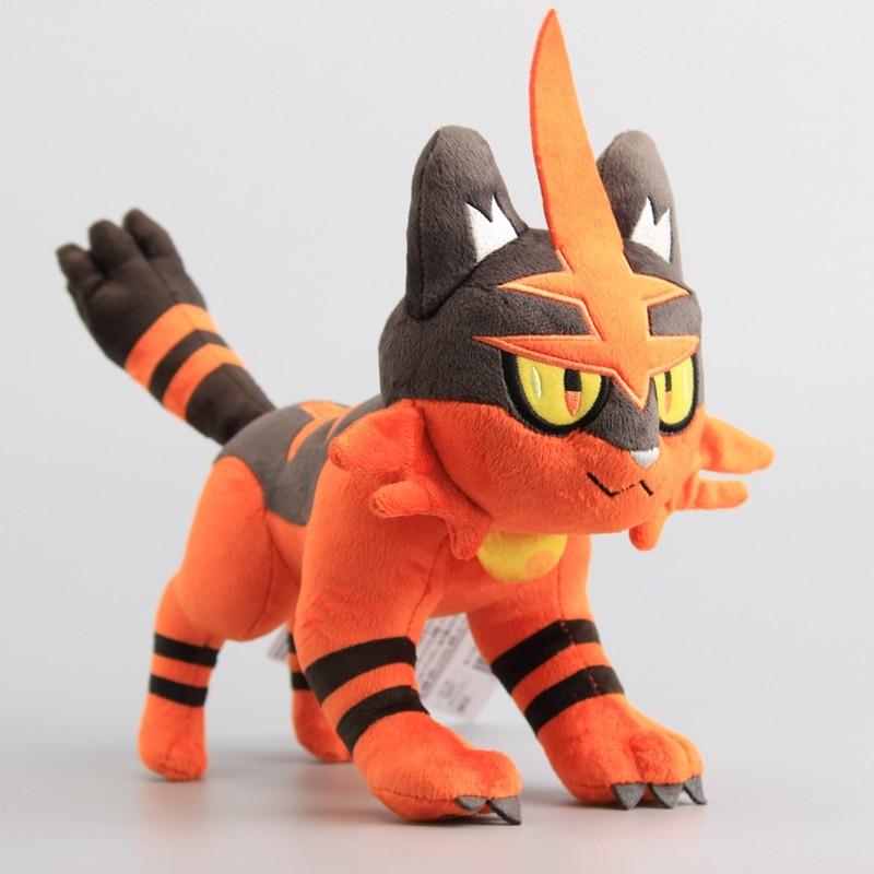 Litten evolve Torracat Plush Toys Dolls Stuffed Animals Cartoon Soft Toys for Children 22*30 cm
