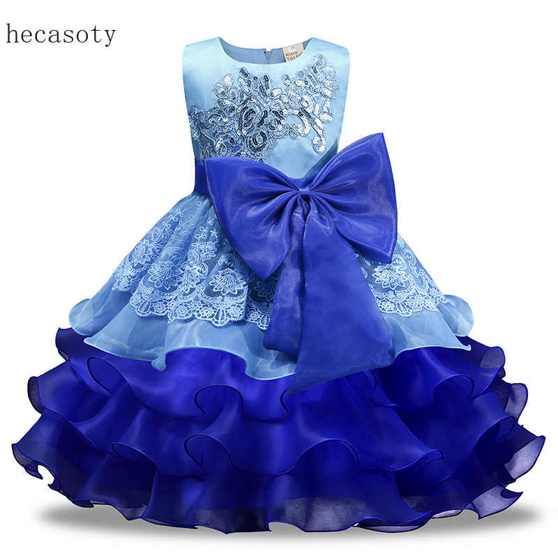 Christmas Dress Girl Flower Big Bow Sleeveless New Year Dress Kids Party Princess Dress Baby Girl Clothes Kids Dresses for Girls