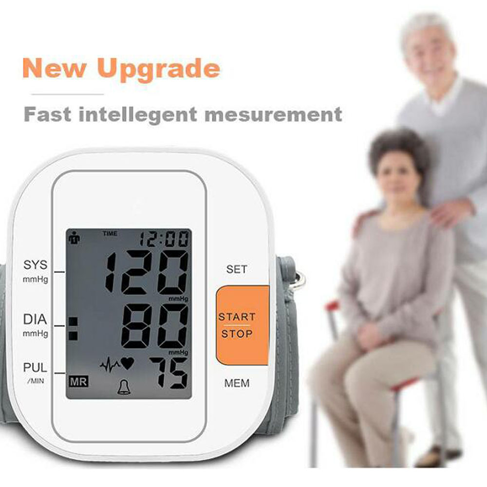 Home Health Care Digital Lcd Upper Arm Blood Pressure Monitor Heart Beat Meter Machine Tonometer for Measuring Automatic omron mit elite plus hem 7301 itke7 blood pressure monitor home health care heart beat meter machine tonometer automatic digital