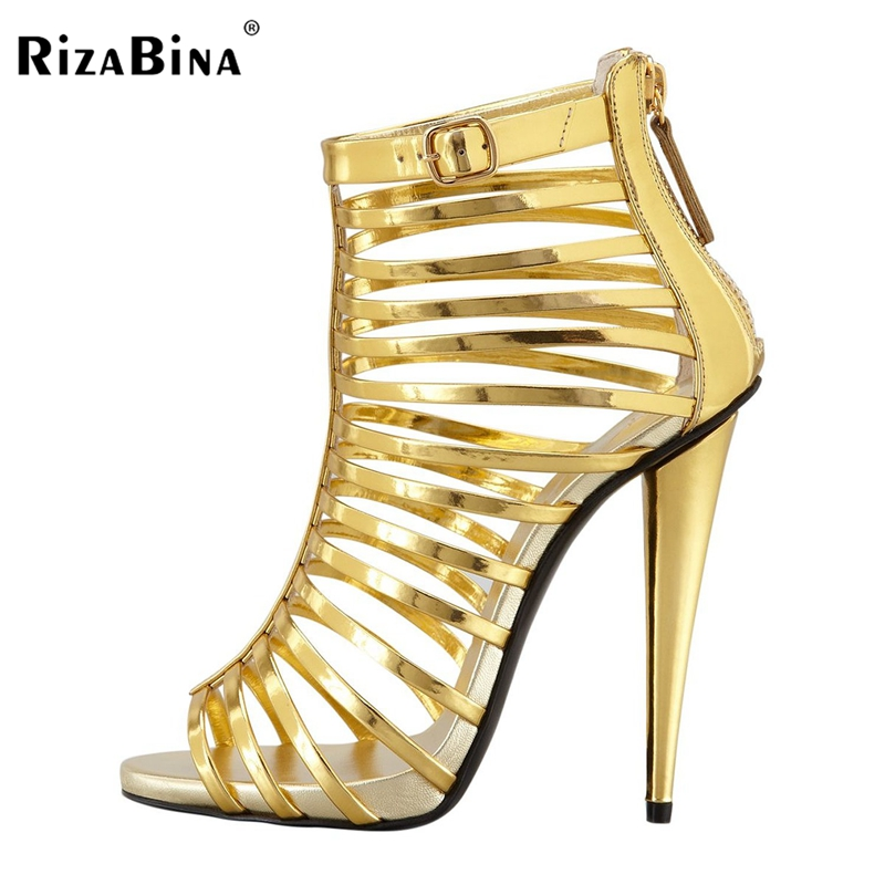 RizaBina Brand Feminina Gladiator Women Sandals Sexy Open Toe High Heel Sandals Women Summer Style Party Shoes Size 35-46 B017