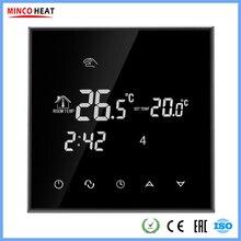 Термостат с сенсорным ЖК-экраном, теплый пол, система отопления, терморегулятор, AC200-240V, регулятор температуры