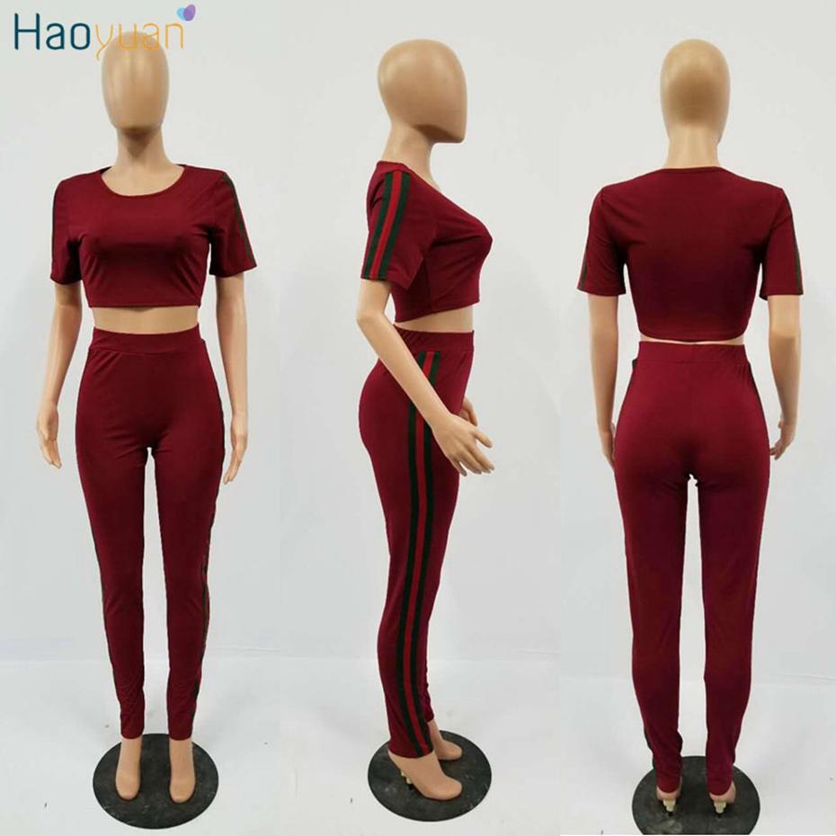 HTB1t8isSVXXXXa3aXXXq6xXFXXXq - Tracksuit Pants and Crop Top Bodycon Outfit Suit 2 Piece Set Women PTC 180