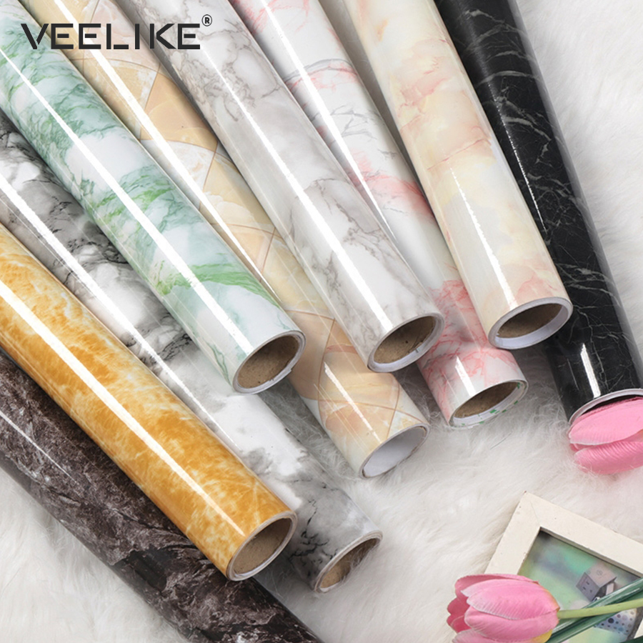Vinyl Granite Marble Contact Paper For Kitchen Countertops Self Adhesive Wallpaper For Kitchen Cabinets Shelf Liner Home Decor