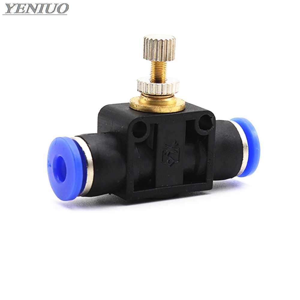 """SA """"пневматические фитинги 4 мм до 12 мм OD шланг трубы газа потока регулировочный клапан подсоединительный фитинг регулятор скорости воздуха"""
