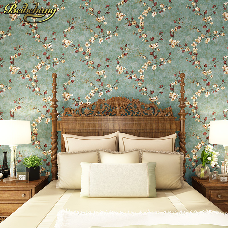 beibehang Pastoral small flowers mural wallpaper vertical 3D wall paper roll home decor for living room background papel contact non woven bubble butterfly wallpaper design modern pastoral flock 3d circle wall paper for living room background walls 10m roll