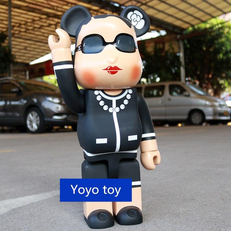 Grande 70 cm 1000% Bearbrick Be @ rbrick Luxo Senhora Arte CH Figura PVC boneca Coleção modelo Decoração do quarto dos miúdos presente frete grátis