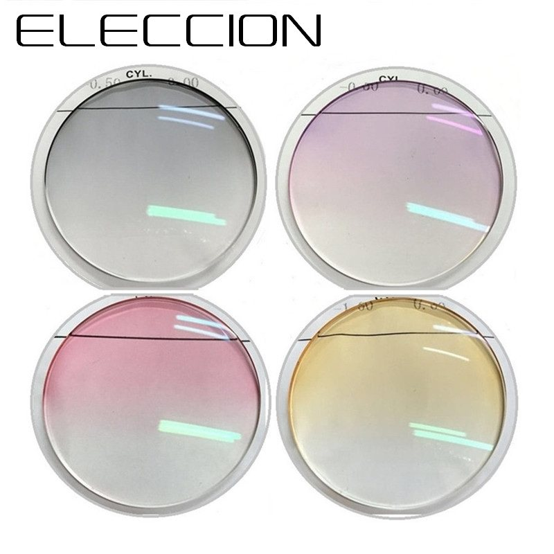 dd716cb78cb ELECCION 1.56 1.61 1.67 Gradient Lenses Myopia Hyperopia Eyegalsses  Aspherical Optical Prescription Glasses Lens Color lenses