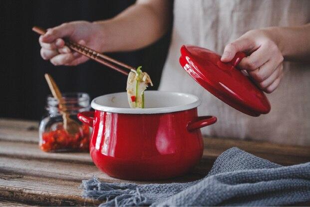 Cache pot japonais émail cuisinière oreilles épaissie porcelaine émaillée chaude soupe ragoût pot électromagnétique cuisinière gaz général friteuse