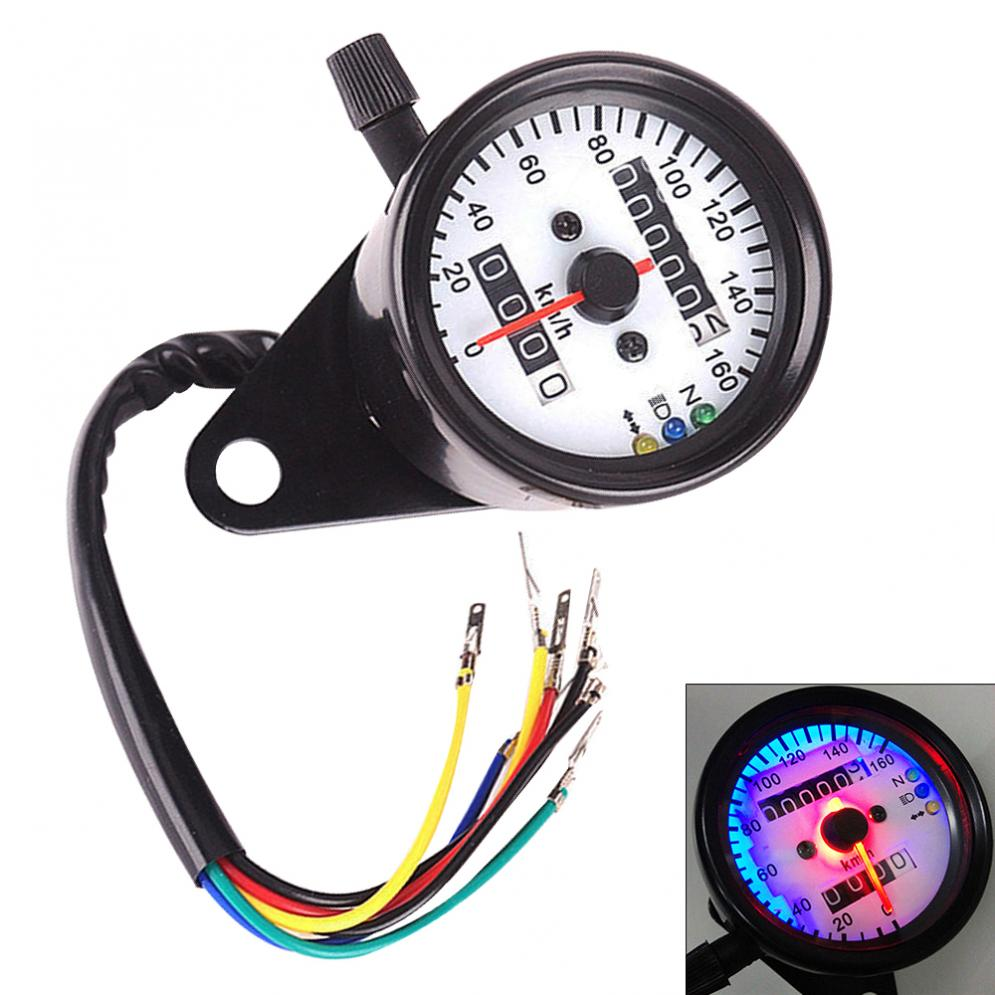 DC 12V Motorcycle LED Backlight Odometer Tachometer Speedometer Gauge Universal