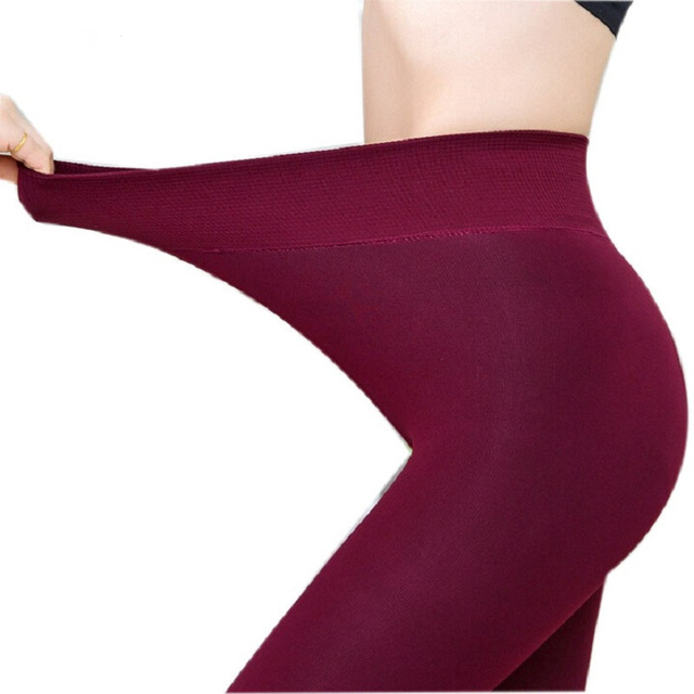Autumn And Winter High Elasticity Thick Velvet Pants Warm Leggings