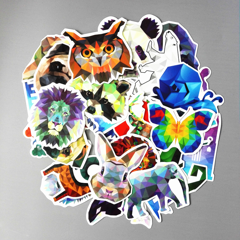 TD ZW 35 Pieces/lot Galaxy Color Animal Stickers Mixed Funny For Car Laptop Bicycles Backpack Notebook DIY Waterproof Stickers