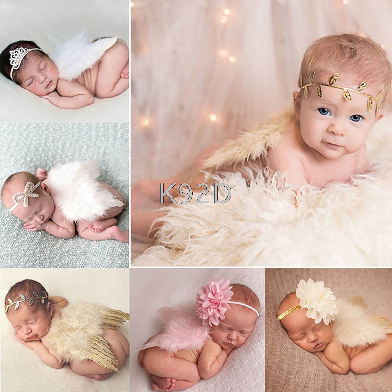 Newborn Baby Girls Boys Angel Wings Costume Photo Photography Prop Outfits N07 cute newborn baby girls boys crochet knit costume photo photography prop outfit one size baby bodysuit hat 2pcs